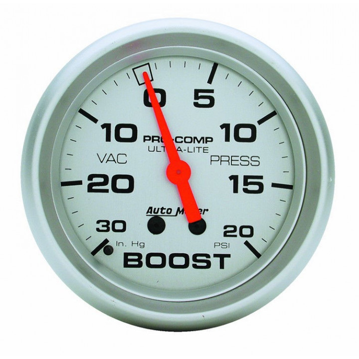 """Auto Meter 4401 - 2-5/8"""" Boost-Vac, 30 in. HG/20 PSI, Mechanical"""