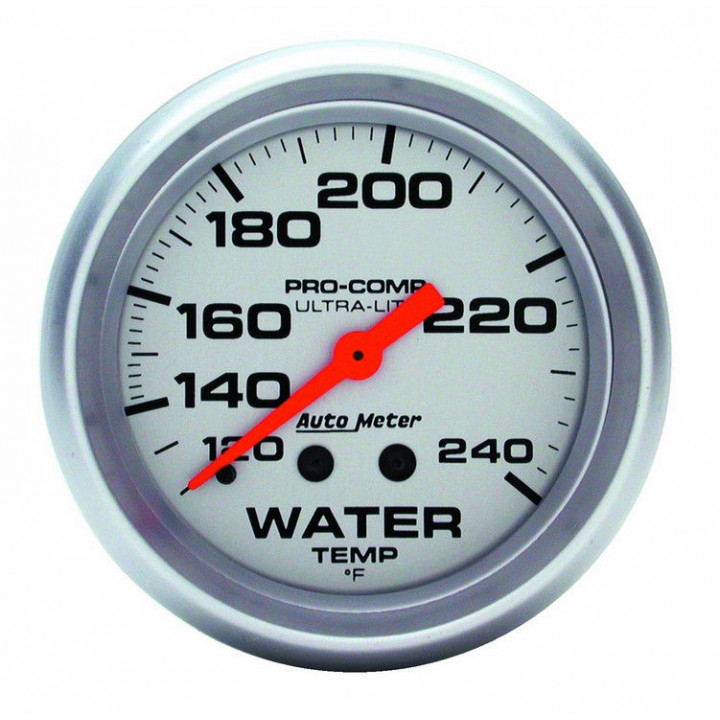"Auto Meter 4433 - 2-5/8"" Water Temp, 120-240'F, 12' Tubing, Mechanical"