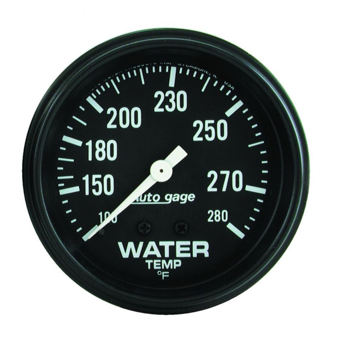 "Auto Meter 2313 - 2-5/8"" Water Temp, 100-280'F, Mechanical"