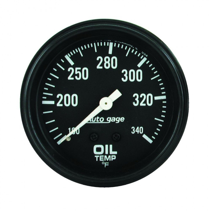 "Auto Meter 2314 - 2-5/8"" Oil Temp, 100-340'F, Mechanical"