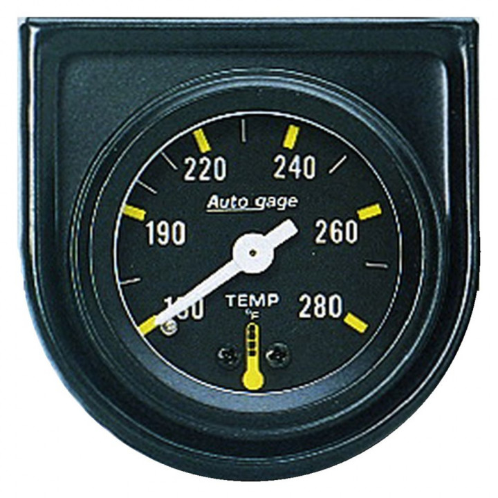 "Auto Meter 2352 - 1-1/2"" Water Temp, 130-280'F, Mechanical"