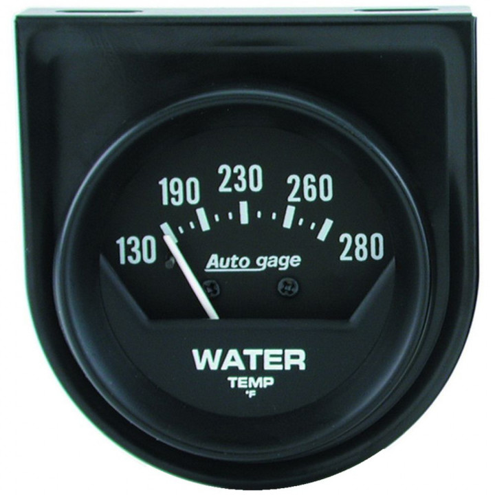 "Auto Meter 2361 - 2"" Water Temp, 130-280'F Short Sweep, Mechanical"