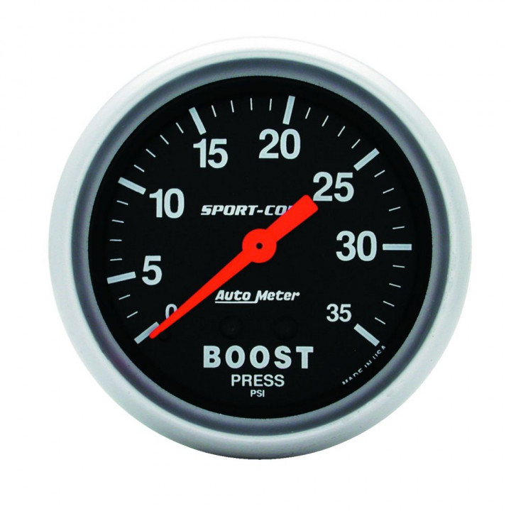 """Auto Meter 3404 - 2-5/8"""" Boost, 0-35 PSI, Mechanical"""