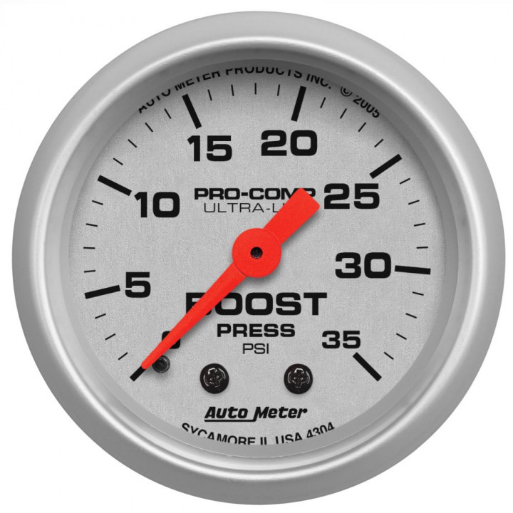 "Auto Meter 4304 - 2"" Boost, 0-35 PSI, Mechanical"
