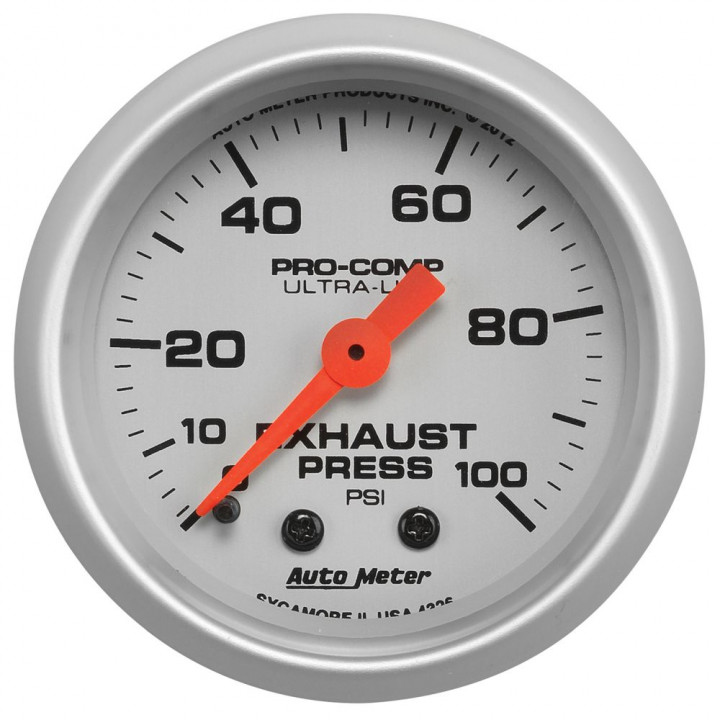 Auto Meter 4326 - Ultra-Lite Mechanical Exhaust Pressure Gauge