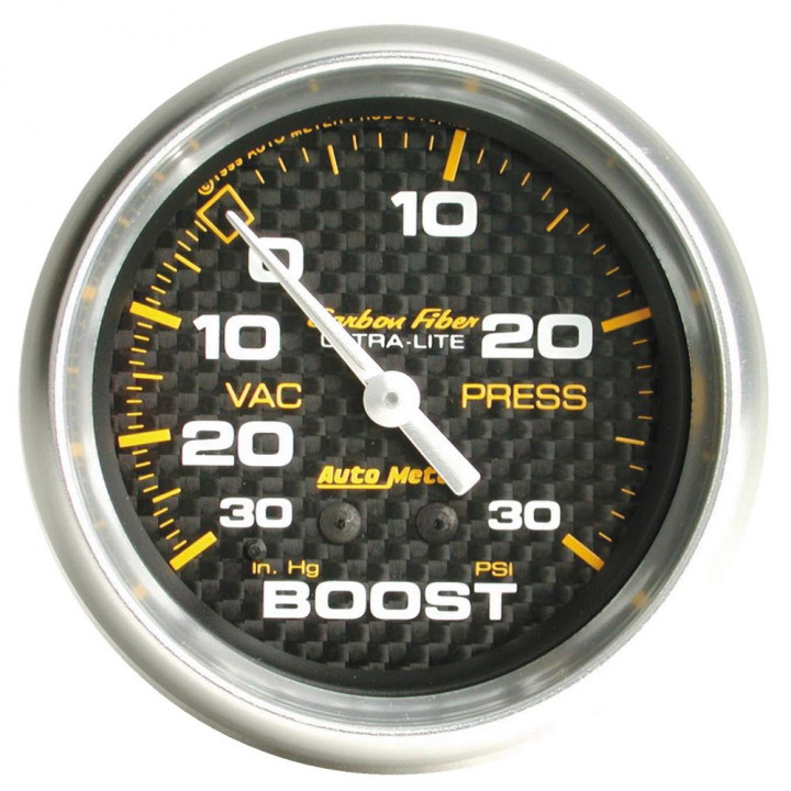 "Auto Meter 4803 - 2-5/8"" Boost-Vac, 30 in. HG/30 PSI, Mechanical, CF"
