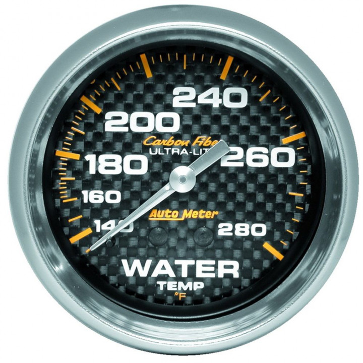 "Auto Meter 4831 - 2-5/8"" Water Temp, 140-280'F, 6' Line, Mechanical, CF"