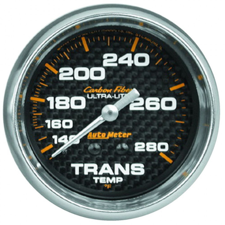 "Auto Meter 4851 - 2-5/8"" Trans Temp, 140-280'F, 8' Line, Mechanical, CF"