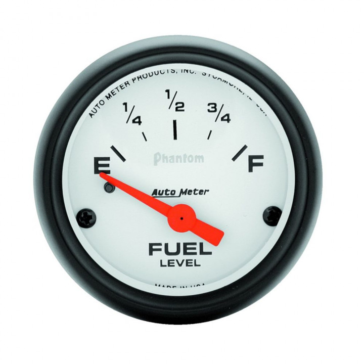 "Auto Meter 5717 - 2"" Fuel Level, 0 E/30 F Pre '65, Phantom"