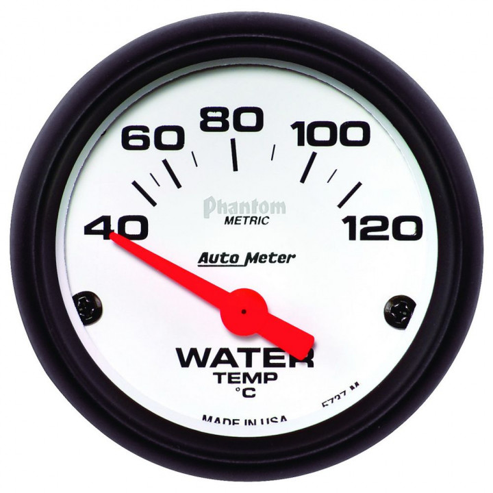 "Auto Meter 5737-M - 2"" Water Temp, 40-120'C, Phantom"