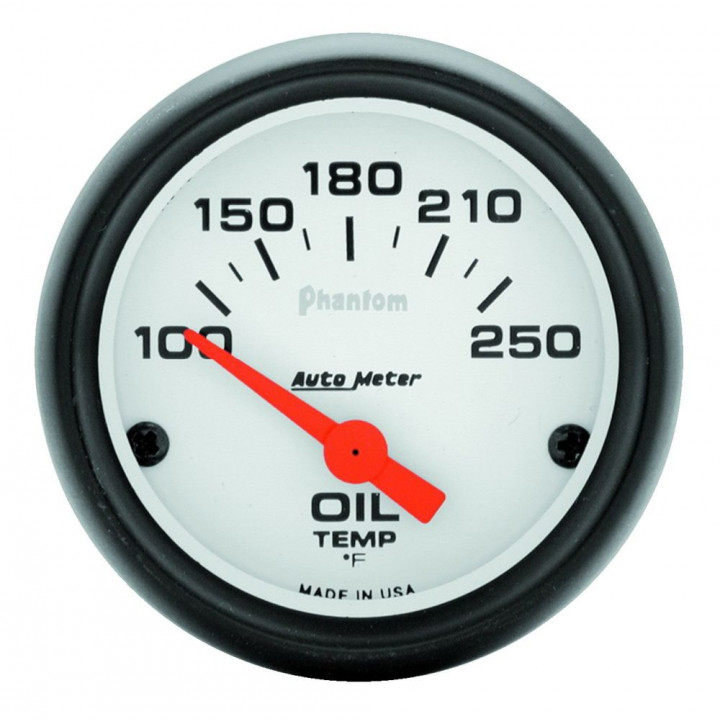"Auto Meter 5747 - 2"" Oil Temp, 100-250'F, Phantom"