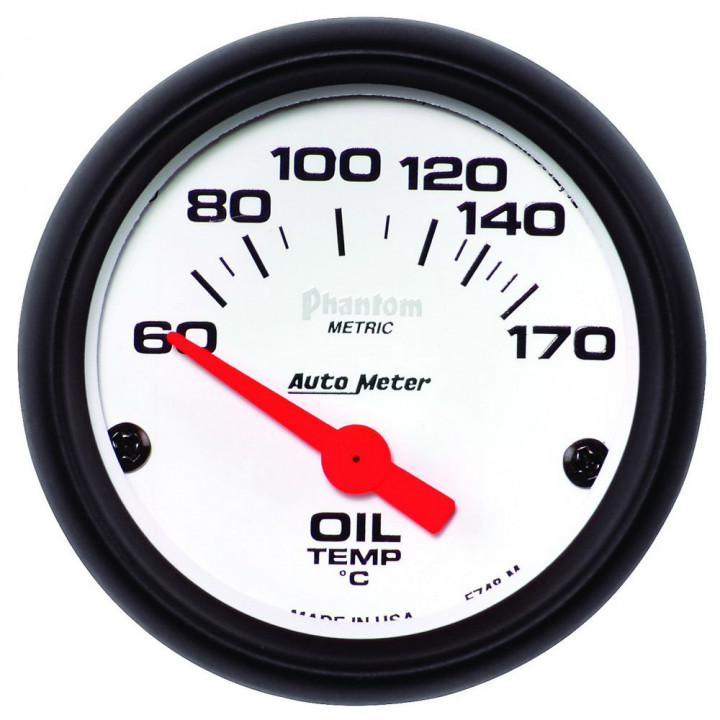 "Auto Meter 5748-M - 2"" Oil Temp, 60-170'C, Phantom"
