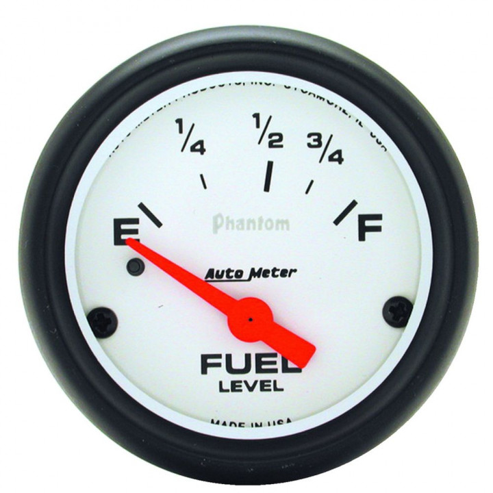 "Auto Meter 5814 - 2-5/8"" Fuel Level, 0 E/ 90 F, Phantom"