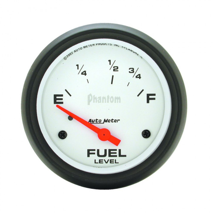 "Auto Meter 5815 - 2-5/8"" Fuel Level, 73 E/ 8-12 F, Phantom"