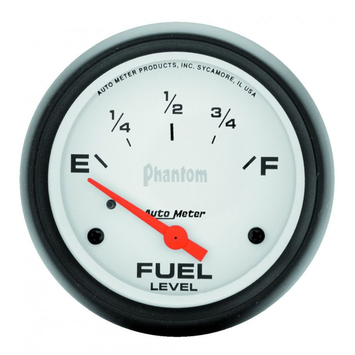 "Auto Meter 5816 - 2-5/8"" Fuel Level, 240E/ 33 F, Phantom"