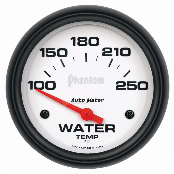 "Auto Meter 5837 - 2-5/8"" Water Temp, 100-250'F, Phantom"