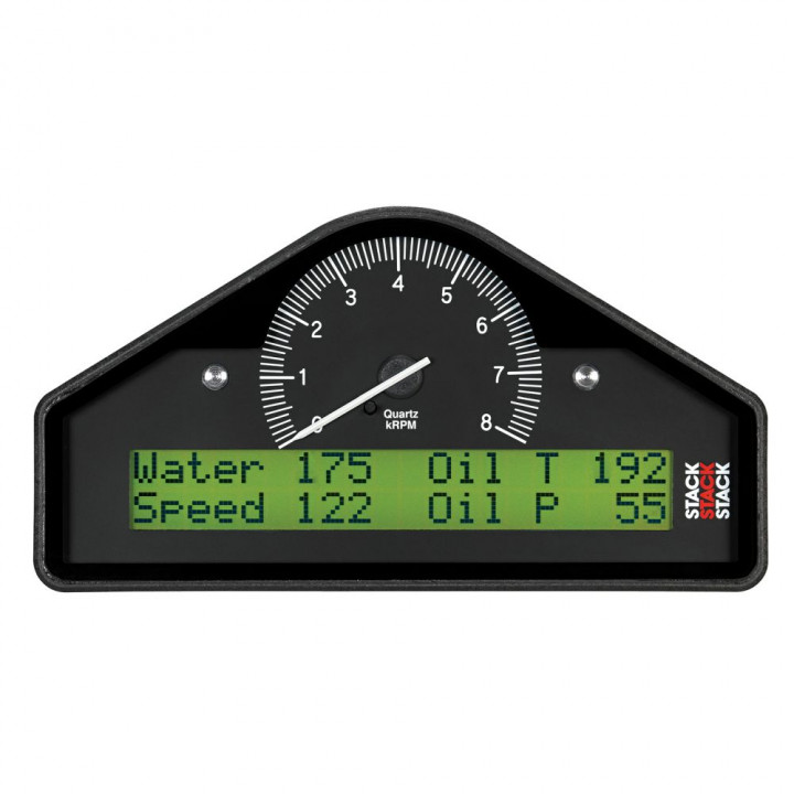 Auto Meter ST8100-A - Stack Pre-Configured Race Dash Display - (0-8K RPM) - (PSI-DEG. F-MPH)