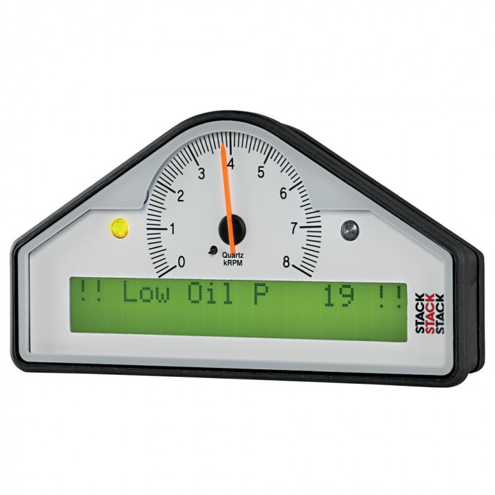 Auto Meter ST8100-B - Stack Pre-Configured Race Dash Display - (0-8K RPM) - (PSI-DEG. F-MPH)