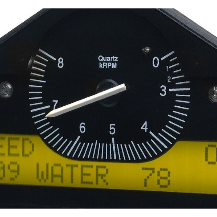 Auto Meter ST8100-E - Stack Pre-Configured Race Dash Display - (0-3-8K RPM Invert) - (PSI-DEG. F-MPH)