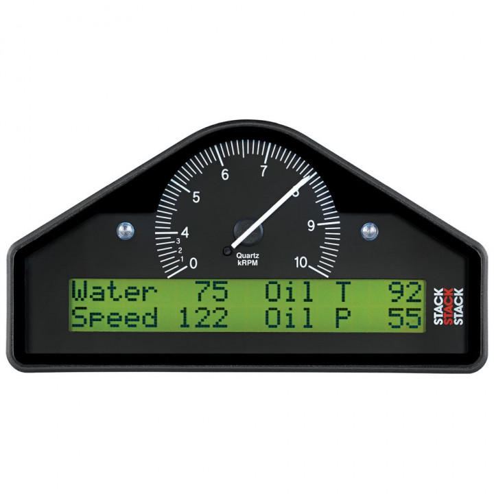 Auto Meter ST8100-F - Stack Pre-Configured Race Dash Display - (0-4-10K RPM) - (PSI-DEG. F-MPH)
