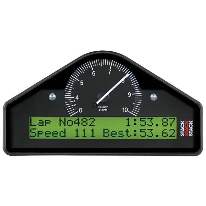 Auto Meter ST8100AR-F-E - Stack Action Replay Dash Display - (0-4-10K RPM) - (BAR-DEG. C-KM/H)