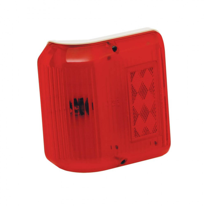 Bargman 30-86-005 - Clearance Light #86 Wrap-Around Red w/Colonial White Base
