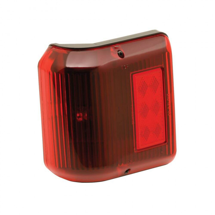 Bargman 30-86-202 - Clearance Light #86 Wrap-Around Red w/Black Base