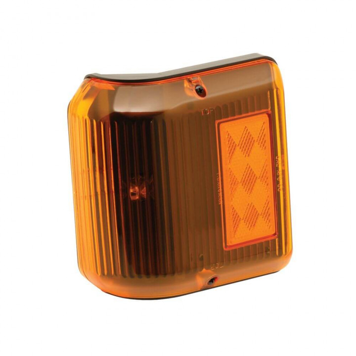 Bargman 30-86-203 - Clearance Light #86 Wrap-Around Amber w/Black Base