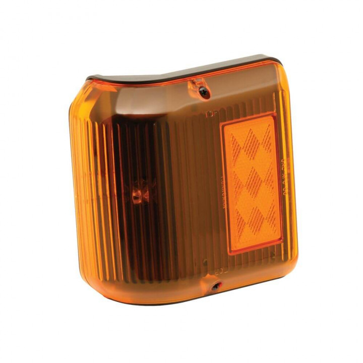 Bargman 34-86-203 - Clearance Light #86 Wrap-Around Amber w/Black Base