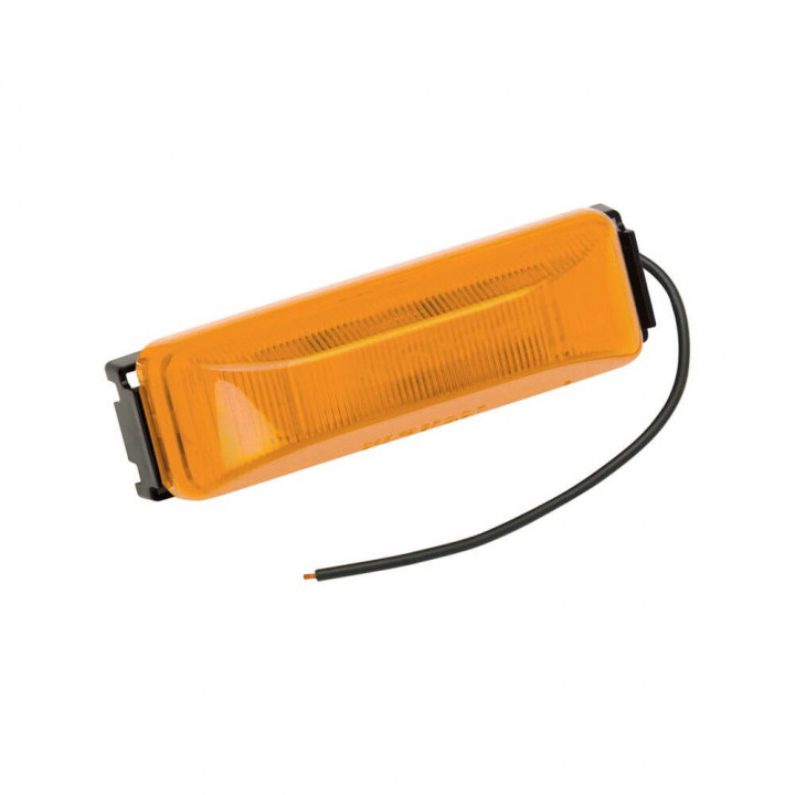 Bargman 42-38-034 - Side Marker Clearance Light LED #38 Amber with Black Base with Pigtail