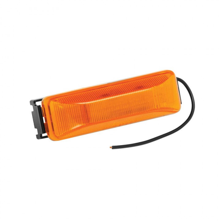 Bargman 44-38-032 - Clearance Light Sealed #38 Amber with Black Base and Wire Assembly