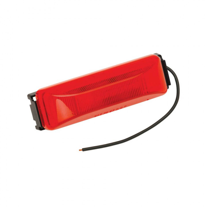 Bargman 47-38-033 - Side Marker Clearance Light LED #38 Red with Black Base with Pigtail