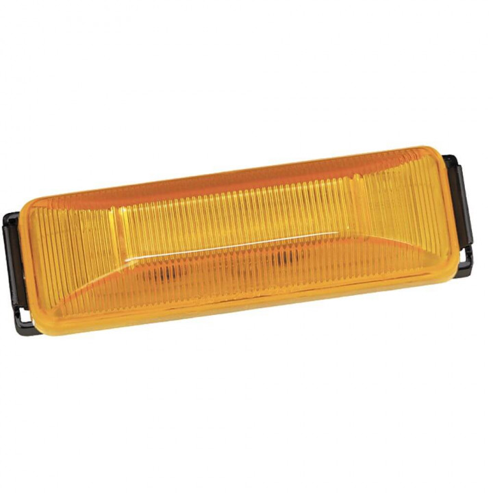 Bargman 47-38-034 - Side Marker Clearance Light LED #38 Amber with Black Base with Pigtail
