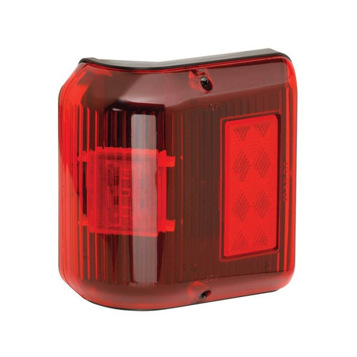 Bargman 48-86-202 - Side Marker Clearance Light LED #86 Wrap-Around Red with Black Base