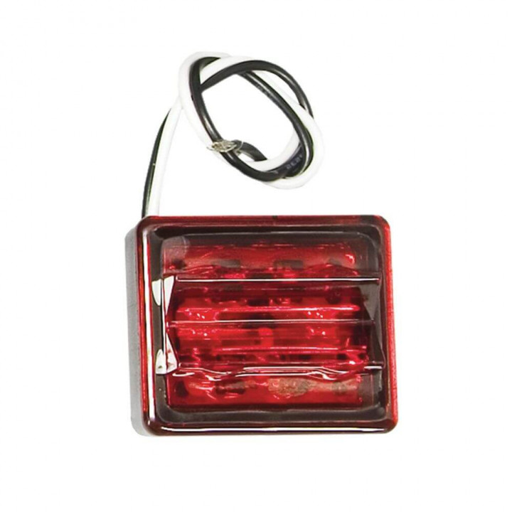 Bargman 47-86-410 - LED Wrap-Around Side Marker Clearance Light Upgrade Module Red