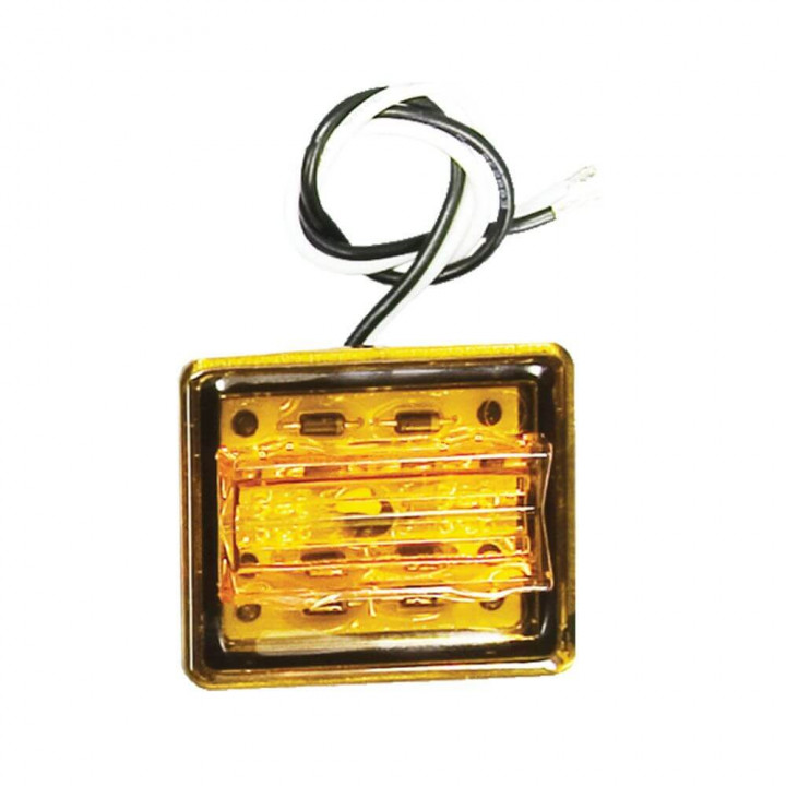 Bargman 47-86-412 - LED Wrap-Around Side Marker Clearance Light Upgrade Module Amber