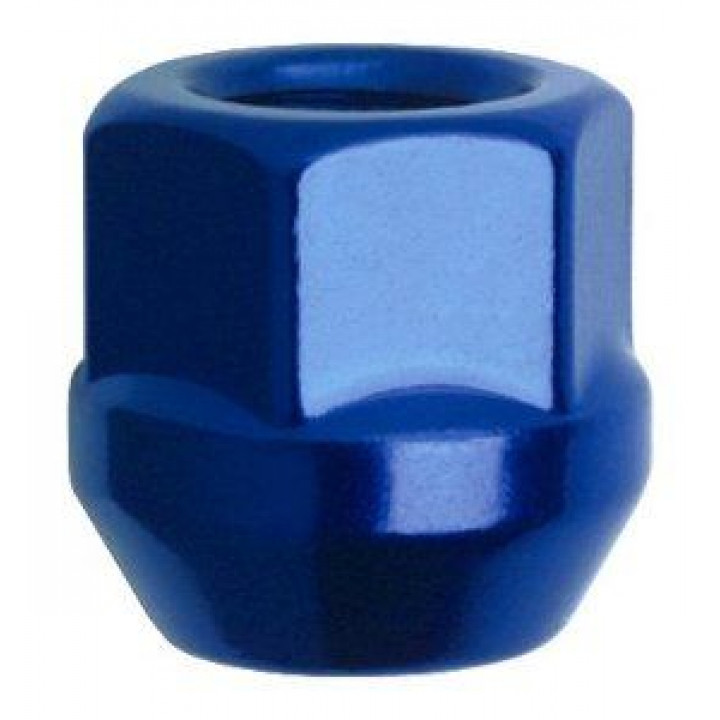"Gorilla 40027BL - Acorn Bulge Open End Blue/Red (3/4"" HEX) Lug Nuts 12mm x 1.25-Blue (Quantity: Pack Of 4)"