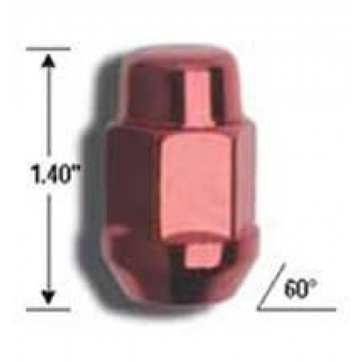 "Gorilla 40028RD - Acorn Bulge Open End Red Lug Nuts (3/4"" HEX) 12mm x 1.25 (Quantity: 100)"