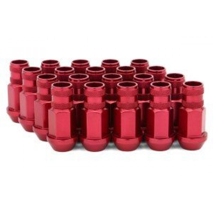 Gorilla 44038RD-20 - Open End Aluminum Racing Lug Red (20-Pack) 12mm x 1.50 Thread
