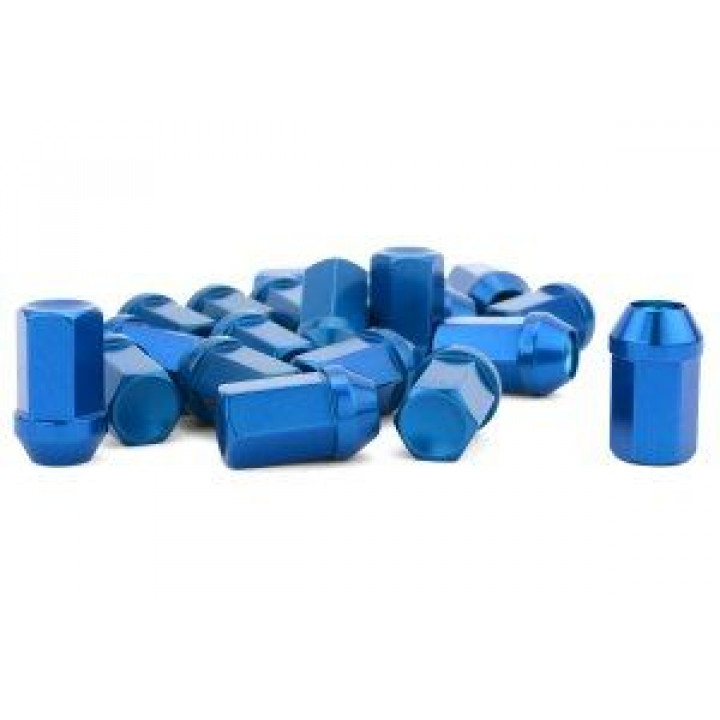 Gorilla 44128BL-20 - Closed End Aluminum Racing Lug Blue (20-Pack) 12mm x 1.25 Thread