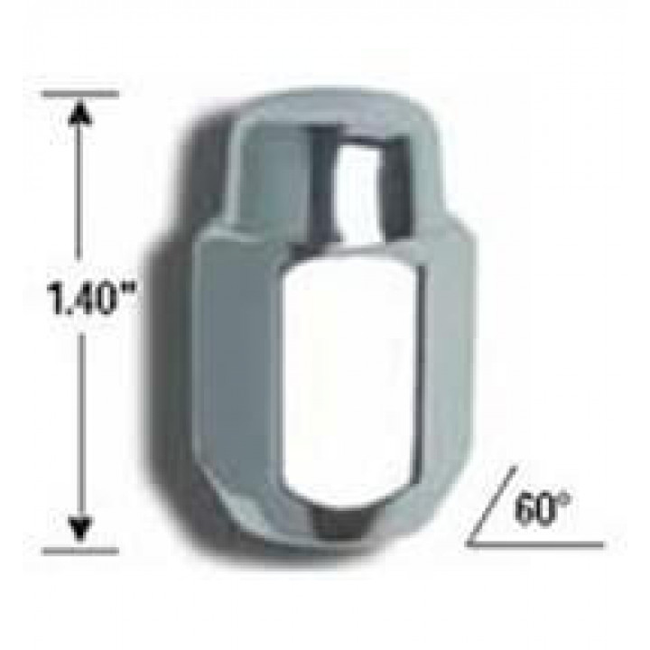 "Gorilla 71187 - Acorn (13/16"" HEX) Lug Nuts 1/2"" (Quantity: Pack Of 4)"