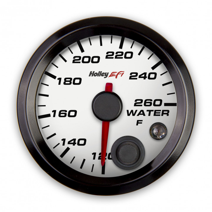 Holley 553-128W - Coolant Temperature Gauge - (White)