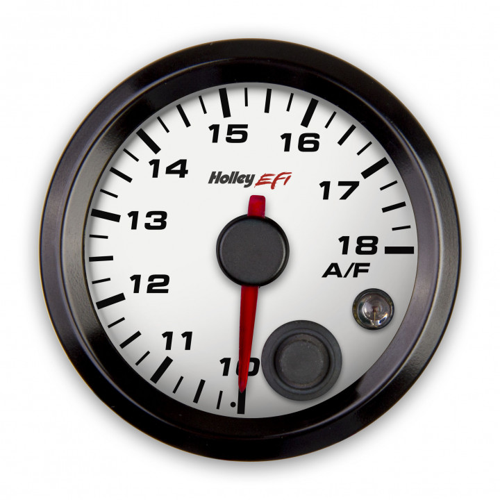 Holley 553-131W - Air/Fuel Left Gauge - (White)