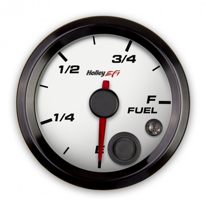 Holley 553-133W - Fuel Level Gauge - (White)