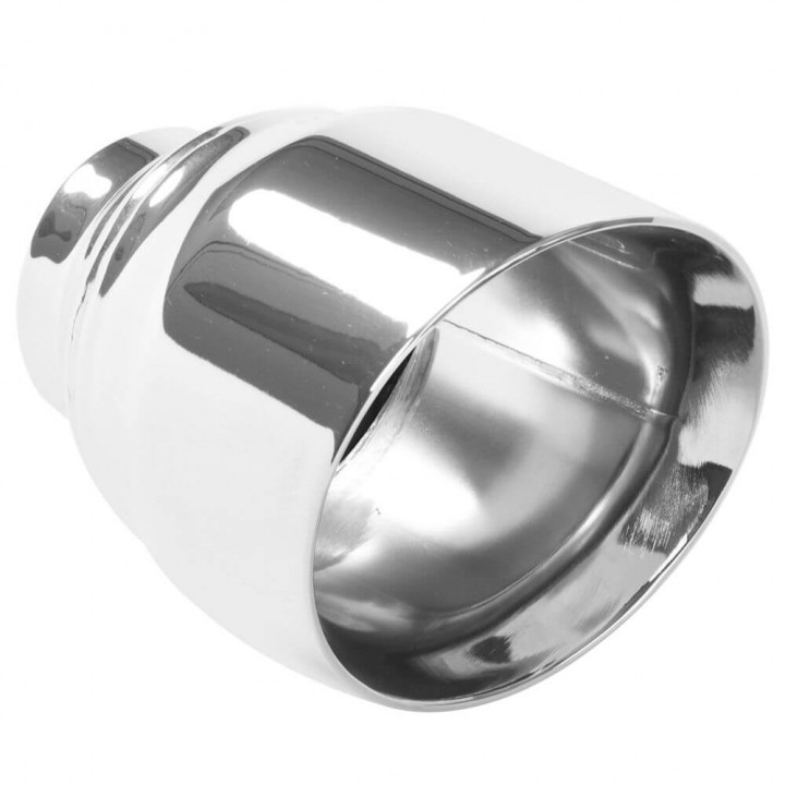 """Magnaflow 35224 - Round 15 Deg. Double Wall Exhaust Tip (2.5"""" ID/4.5"""" OD)"""