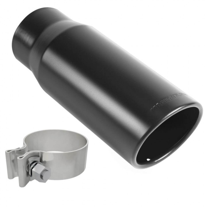 "Magnaflow 35235 - Black Series Round 15 Deg. Rolled Edge Stainless Steel Exhaust Tip (2.75"" ID/3.5"" OD)"