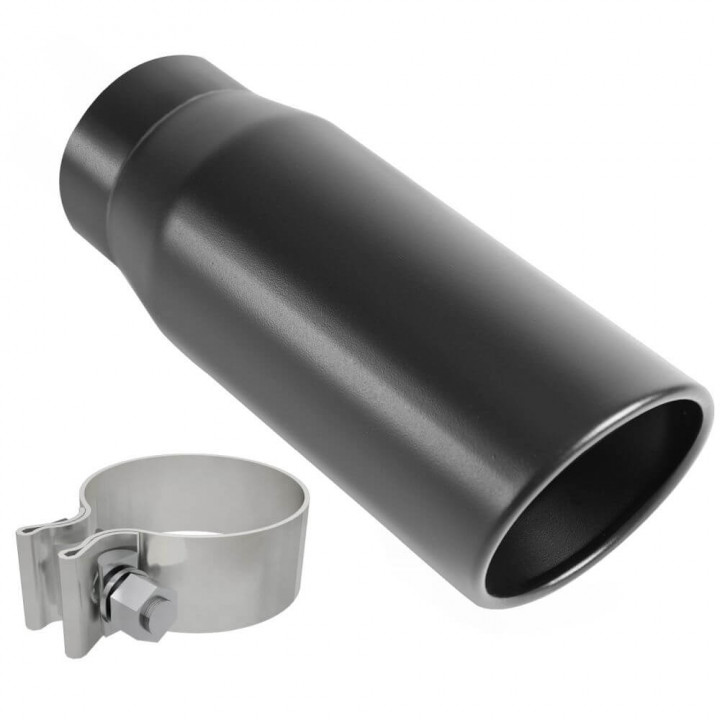 "Magnaflow 35236 - Black Series Round 15 Deg. Rolled Edge Stainless Steel Exhaust Tip (3"" ID/4"" OD)"