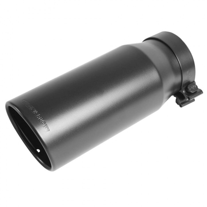 "Magnaflow 35239 - Black Series Round 15 Deg. Rolled Edge Stainless Steel Exhaust Tip (5"" ID/6"" OD)"
