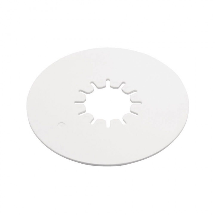 "Reese 83001 - Elite Series Fifth Wheel 12"" Round Lube Plate - 3/16"" Thick - White Polyethylene"