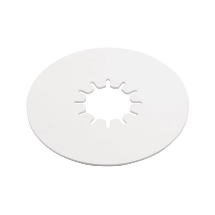 "Reese 83002 - Fifth Wheel 10"" Round Lube Plate - 3/16"" Thick - White Polyethylene"